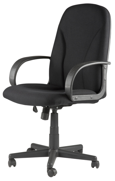 boise high back executive fabric office chair black