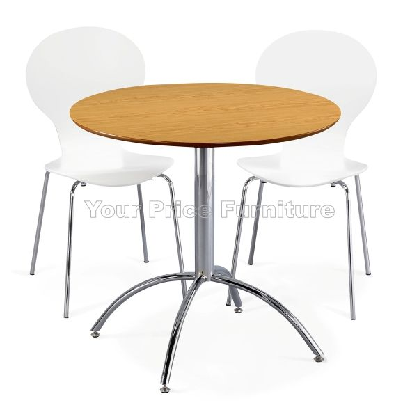 Kimberley dining set natural 2 white chairs sale now on for Dining table set deals