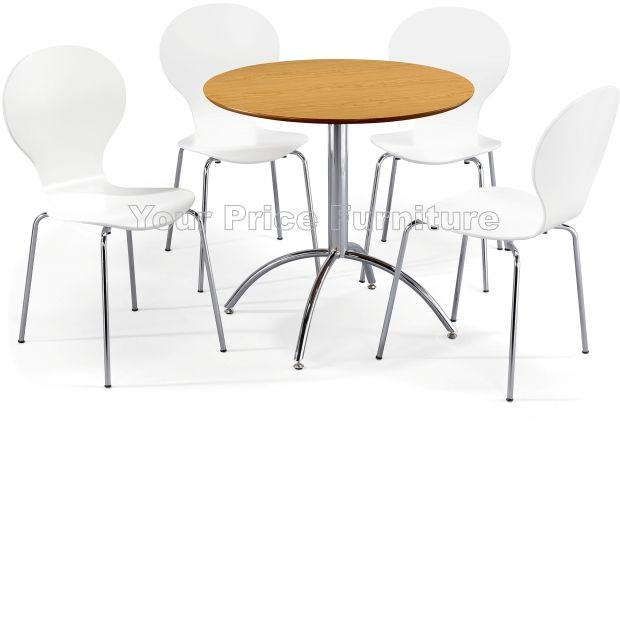 Kimberley dining set natural 4 white chairs sale now on for Dining table set deals