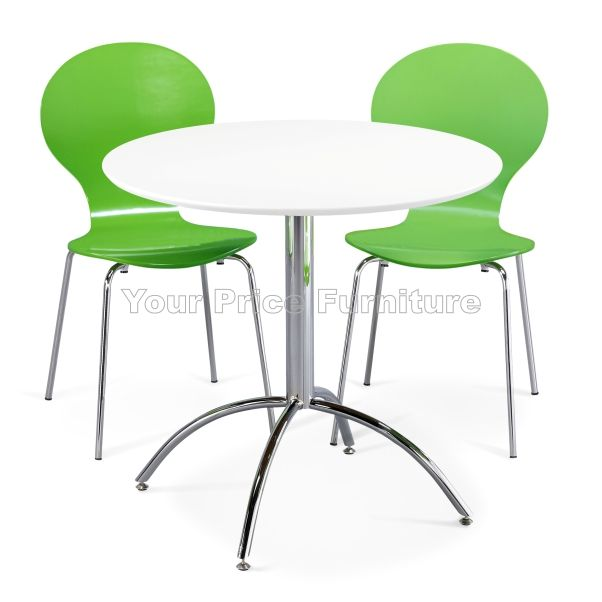 Kimberley dining set white 2 green chairs sale now on for Dining table set deals