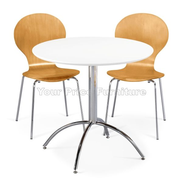 Kimberley Dining Set White Table & 2 Natural Chairs Sale