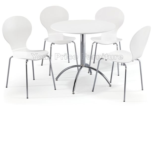 Kimberley Dining Set White Table & 4 White Chairs Sale Now