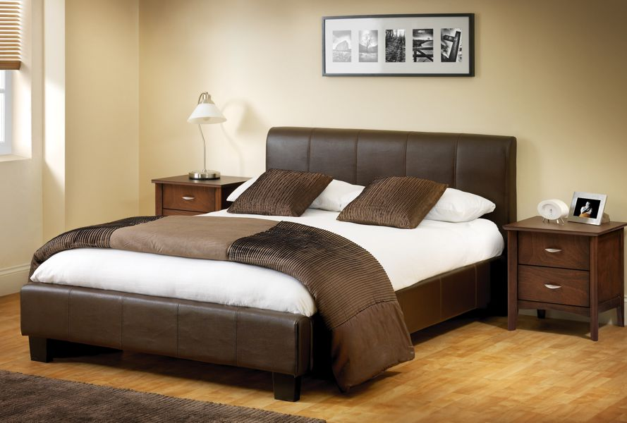 Venice faux leather single bedstead Sale Now Your Price