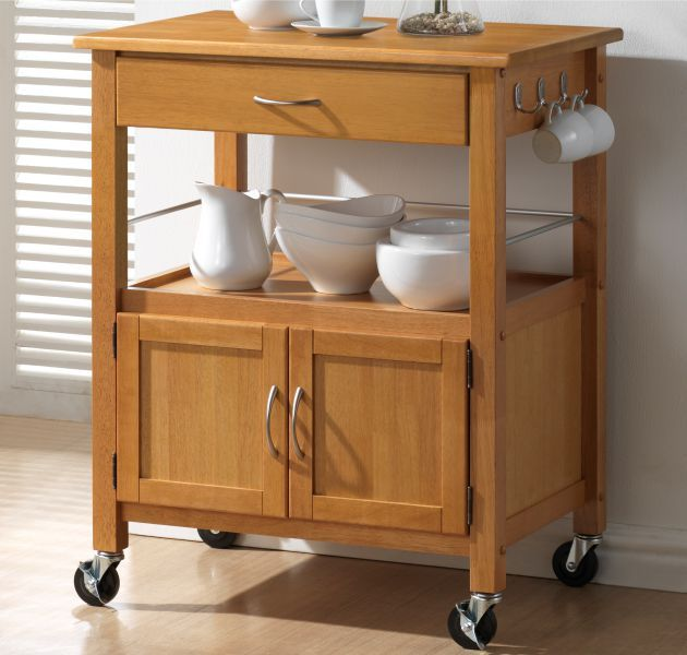 Hardwood Oak Finish Kitchen Trolleys Half Price Sale Now On At Your Price Furniture