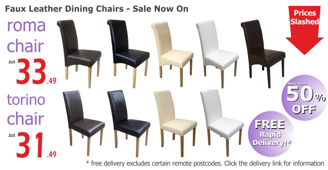 Faux Leather Dining Chairs Sale Now On