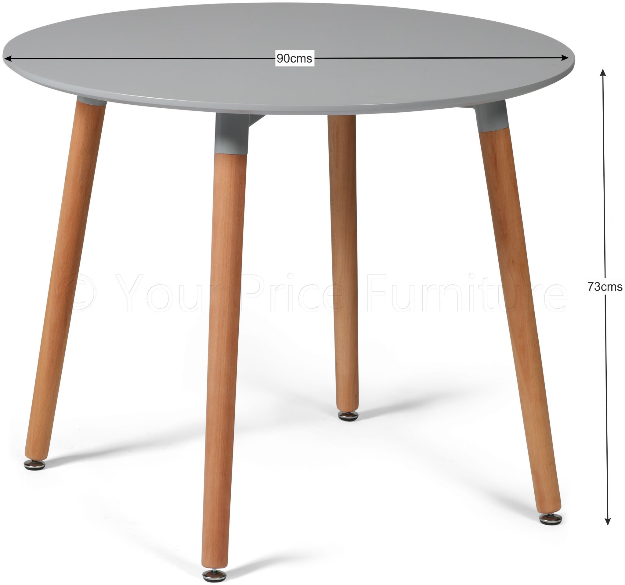 Eiffel Grey Designer Dining Table Round Small Sale Now On