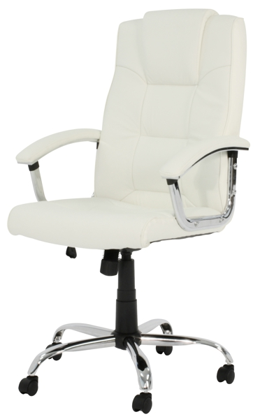 hawaii high back leather executive office chair cream