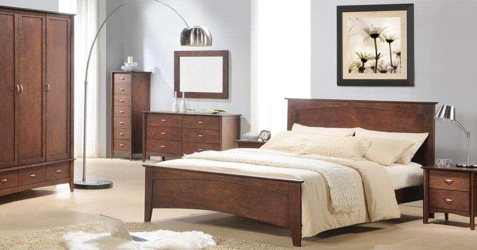 bedroom furniture dark wood. The Elegant Design With Slightly Overlapping Panels Brings A Luxurious Modern Style To Your Bedroom. Bedroom Furniture Dark Wood