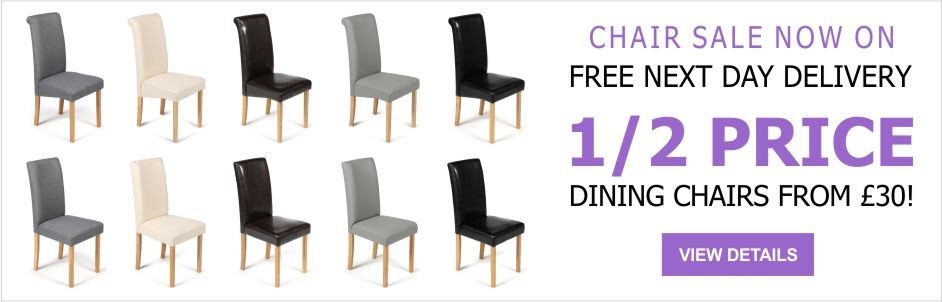 See Our Amazing 1/2 Price Deals on Dining Chairs